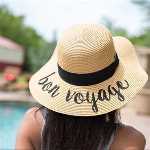 Accessories - Bon Voyage Floppy Wide Brim Straw Hat